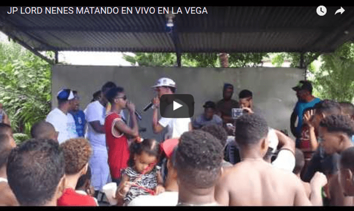 VIDEO: JP LORD NENES MATANDO EN VIVO EN LA VEGA
