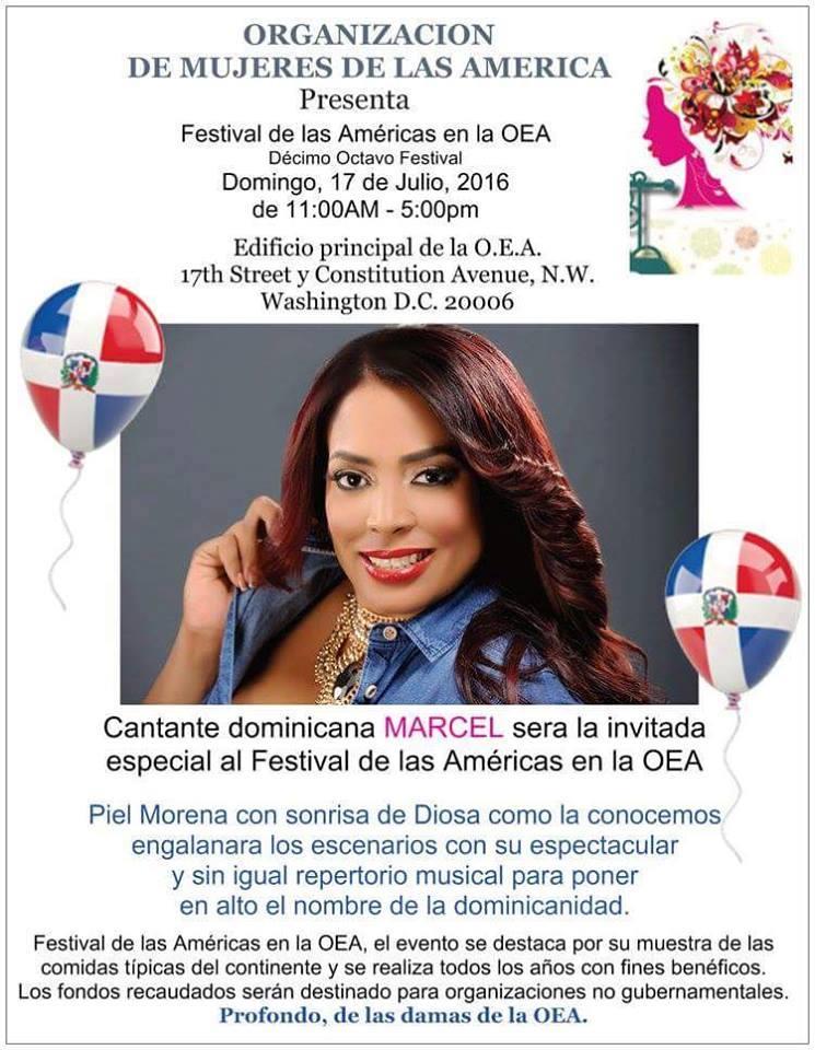 """Marcel """"Piel Morena"""" cantara en la OEA en Washington"""
