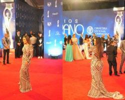 Cómo lucían las féminas sus vestidos desde diferentes ángulos